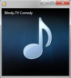 Blindy TV spilles i Windows Media Player