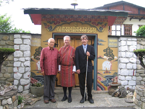 photo:Namgyal Wangchuck, Einar Kippenes and Magne Lunde in Thimphu in May 2005.
